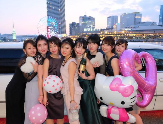 神戸でリムジンパーティー